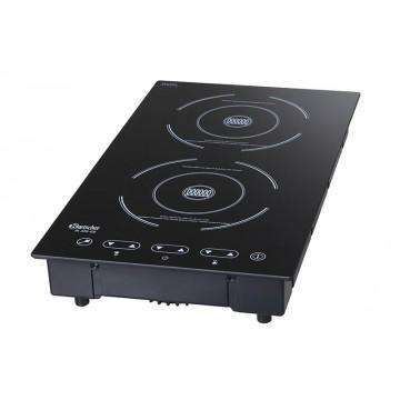 plaque de cuisson professionnel induction avec 2 zones de cuisson puissance 3000 w. Black Bedroom Furniture Sets. Home Design Ideas