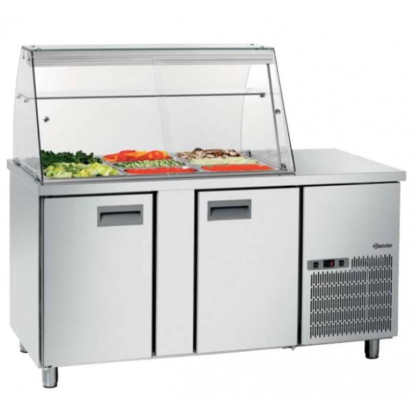 Saladette vitrine r frig r e 2 portes equipement for Equipement restaurant professionnel