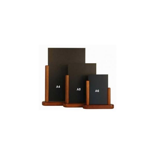 Couleur Bois Acajou : Ardoise de table avec socle en bois dur de couleur Acajou