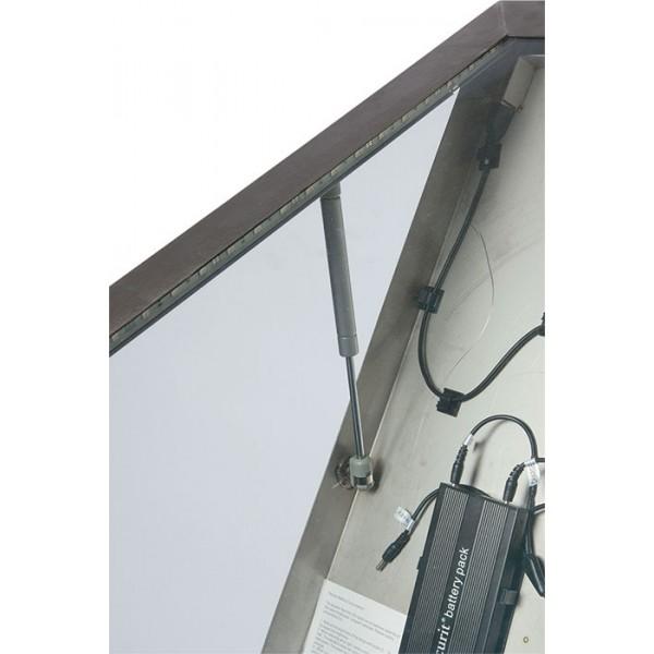 Porte menu ext rieur clairage led cadre et pied en for Porte en acier exterieur