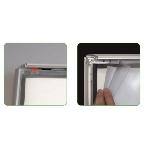 Cadre clic clac a3 cadre clic clac 100 tanche pour ext rieur avec profil aluminium de 35mm - Cadre photo a3 ...