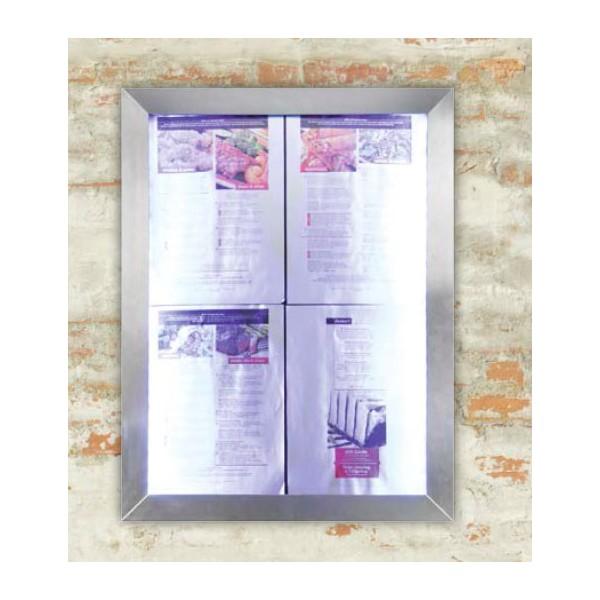 porte menu avec clairage led pour pr senter 4 feuilles a4. Black Bedroom Furniture Sets. Home Design Ideas