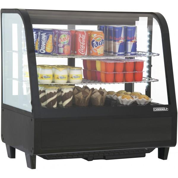 vitrine r frig r e poser d 39 une contenance de 100 litre couleur noir. Black Bedroom Furniture Sets. Home Design Ideas