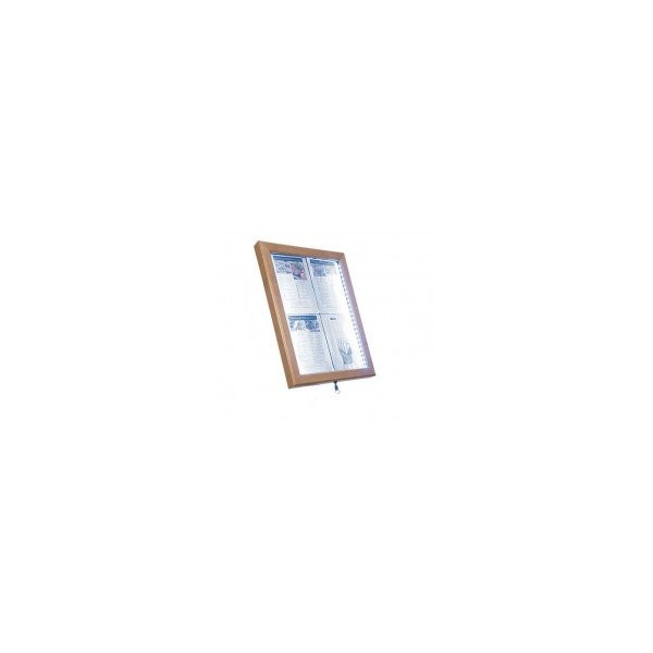 Porte menu led accrocher con u pour l 39 ext rieur for Porte menu exterieur