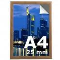 Cadre clic clac A4 couleur bois  - Profilé 25mm