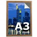 Cadre clic clac A3 couleur bois  - Profilé 25mm