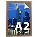 Cadre clic clac A2 couleur bois  - Profilé 25mm