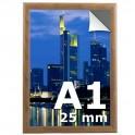 Cadre clic clac A1 couleur bois  - Profilé 25mm
