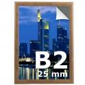Cadre clic clac B2 - couleur bois  - Profilé 25mm