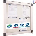 Vitrine intérieure NF fond métal, porte verre - 4xA4 - 6XA4 - 9xA4