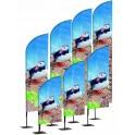 Drapeau publicitaire hauteur de 255cm à 520cm