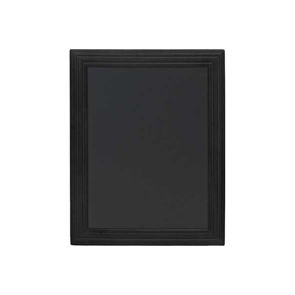 tableau ardoise cadre bois vernis noir 40 x 50cm. Black Bedroom Furniture Sets. Home Design Ideas