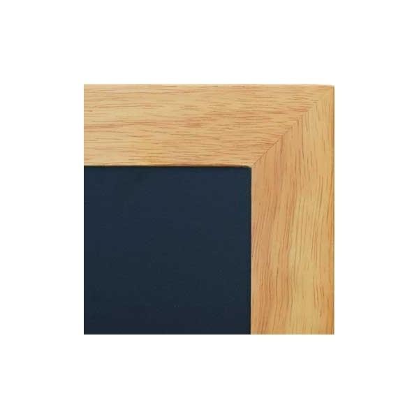 Ardoise murale 70 x 90 cm cadre couleur teck - Tableau ardoise murale ...