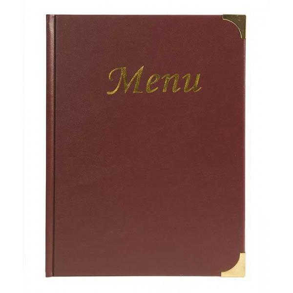 prot ge menus restaurant capacite 10 menus a4 couverture pvc rouge. Black Bedroom Furniture Sets. Home Design Ideas