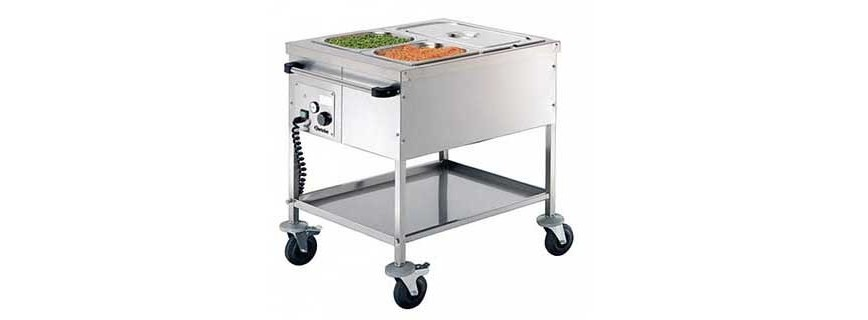 Chariot bain-marie professionnel