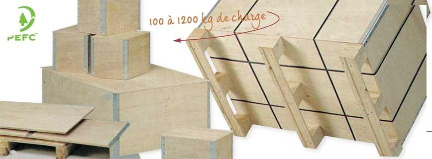 Caisse palette bois