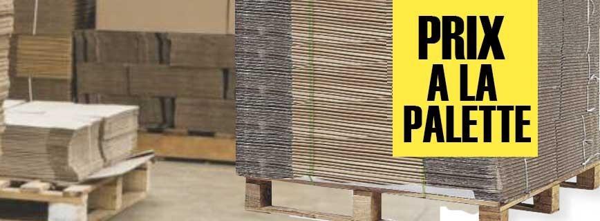 Carton, prix à la palette