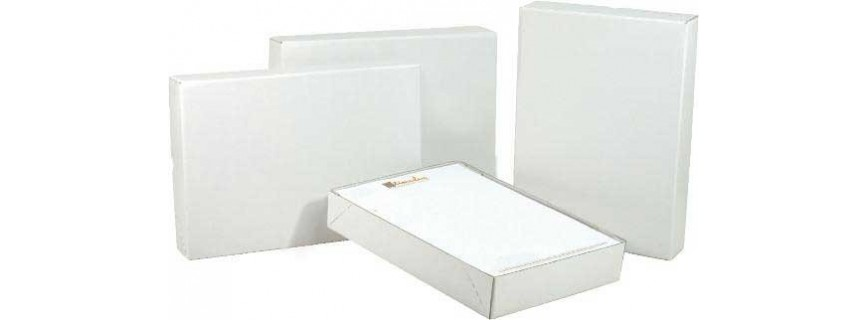 Boîte cloche A4 - kraft blanc