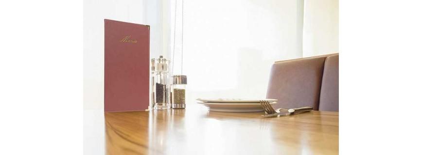 Protège-menus simili-cuir
