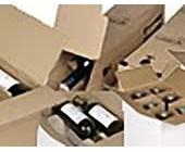 Caisse carton bouteilles