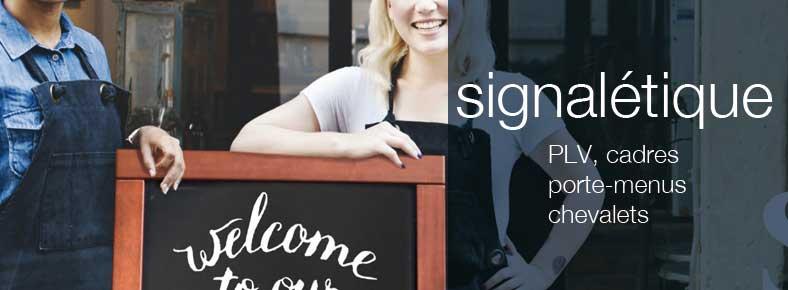 Signalétique pour restaurants, commerces